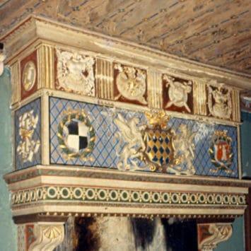 cheminée, avant la restauration