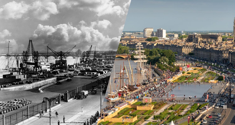 Les quais de Bordeaux hier et aujourd'hui