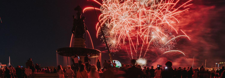 feux d'artifice 14 juillet Bordeaux