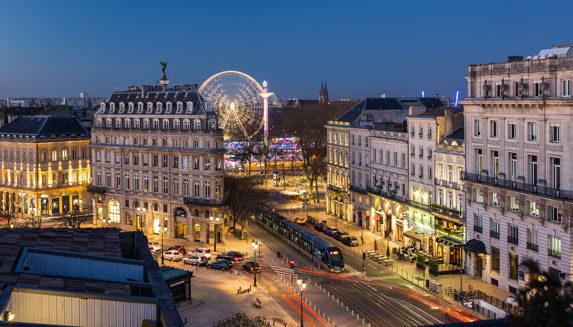 Allées de tourny et place des Quinconces à Bordeaux