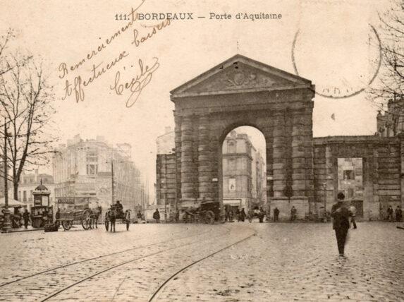 Place de la Victoire à Bordeaux, avant après