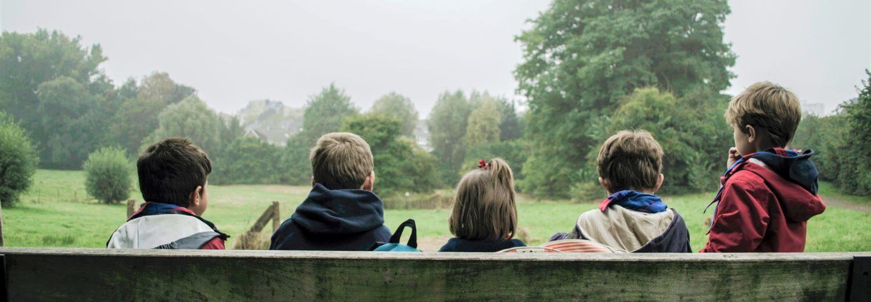 enfants pendant les vacances d'hiver à Bordeaux dans parc