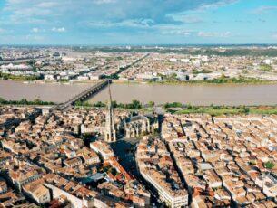 week-end juillet Bordeaux vue du ciel
